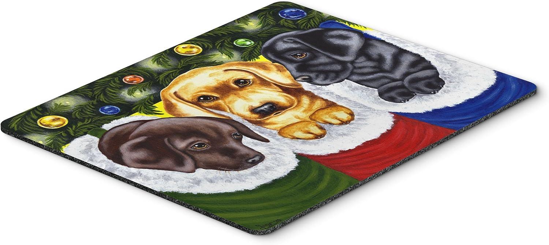 Hot Pad or Trivet Carolines Treasures AMB1315MP Christmas Stocking Surprise Labrador Mouse Pad Large Multicolor