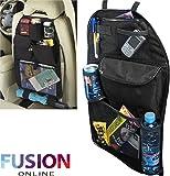 KIDS UNIVERSAL CAR BACK SEAT TIDY HANGING MULTI POCKET TRAVEL STORAGE ORGANIZER Fusion(TM)