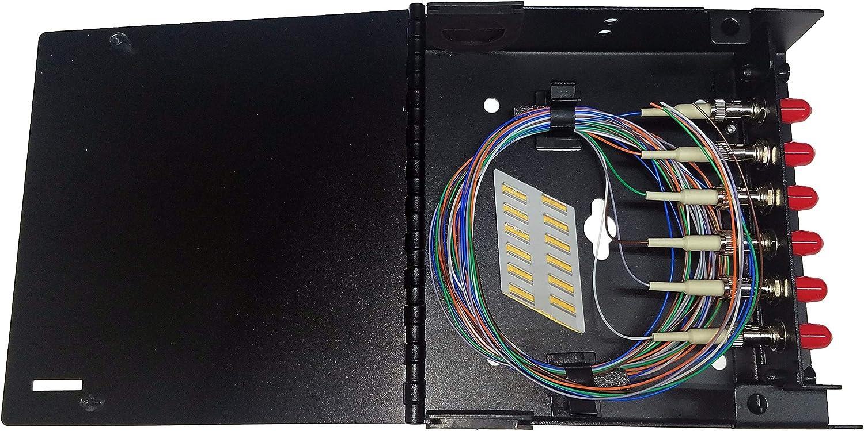 6 Fiber ST//OM1 1 Meter 62.5//125 Pigtails Single Panel Wall Mount Metal Steel 12f Splice Chip Adapters