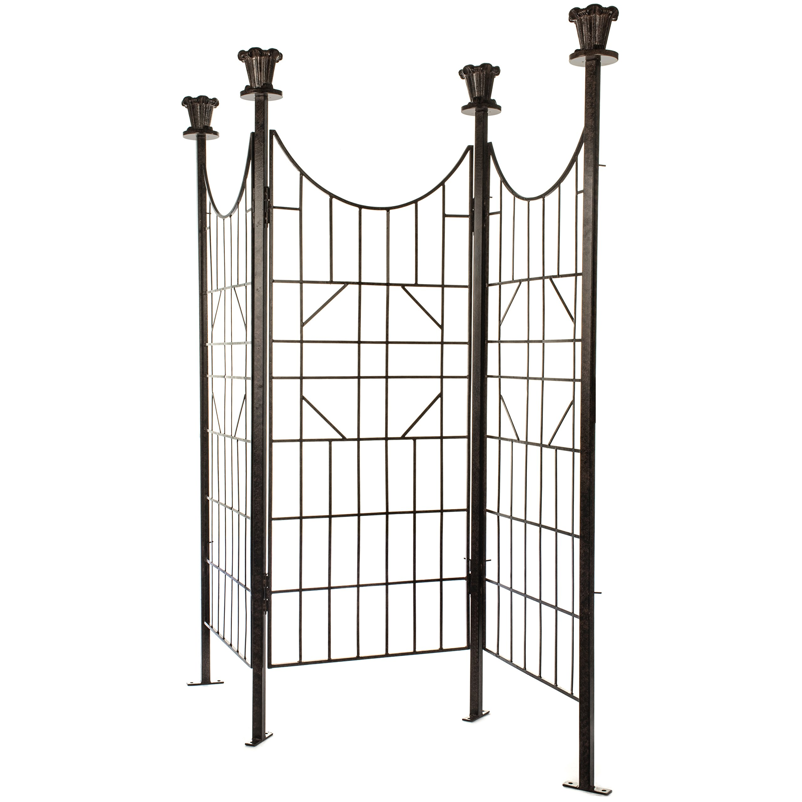 H Potter Large Iron Garden Trellis Screen / Patio Screen Fence