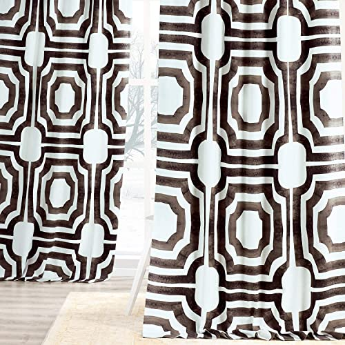 HPD Half Price Drapes PRTW-D23-96 Mecca Printed Cotton Curtain 1 Panel
