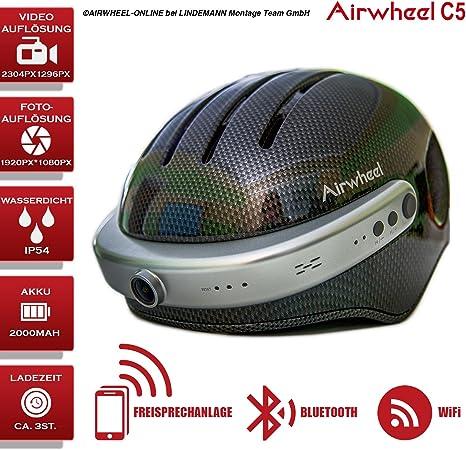 Bicicleta Casco con cámara de acción HD Airwheel C5. Casco con ...