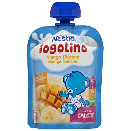Nestlé Iogolino Leche Fermentada con Fruta, Mango Plátano - 90 g
