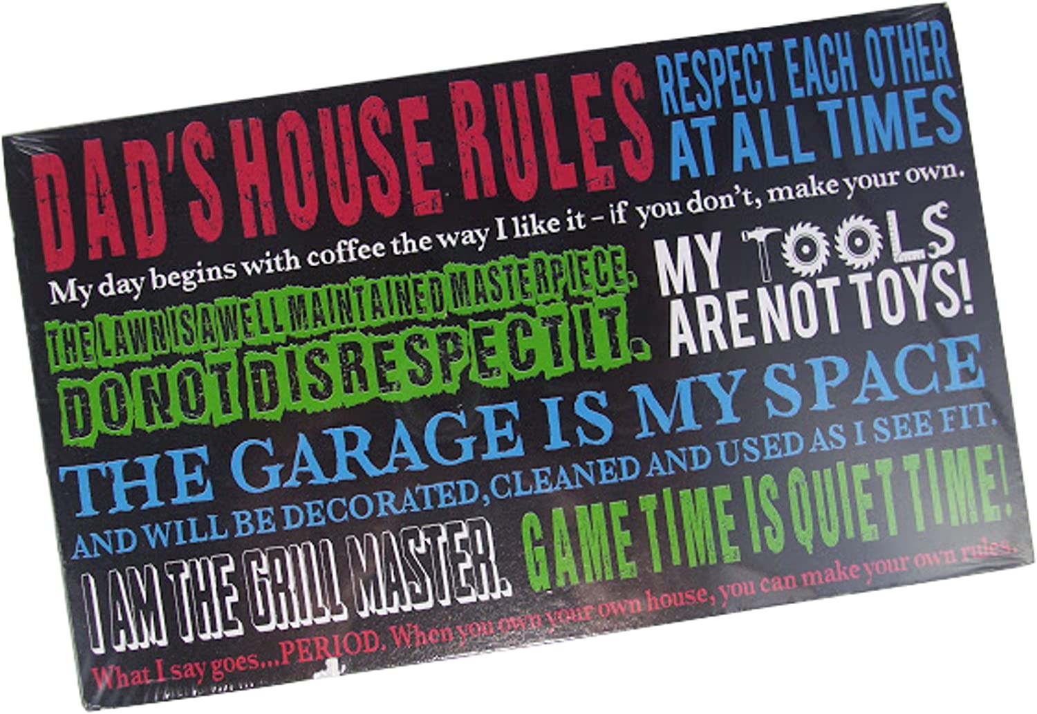 DAD/'S SH*T LIST Metal SIGN fun classic american style printed dads plaque notice