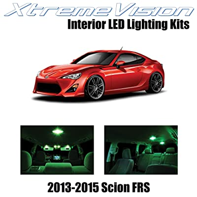 XtremeVision Interior LED for Scion FR-S FRS 2013-2015 (10 Pieces) Green Interior LED Kit + Installation Tool: Automotive