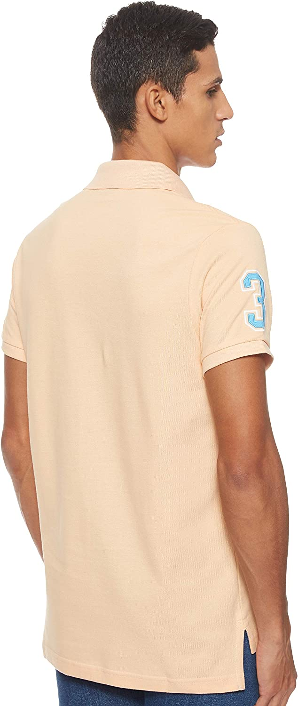 POLO ASSN U.S Mens Short-Sleeve Polo Shirt with Applique Polo Shirt