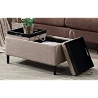 Convenience Concepts 143042T Designs for Comfort Storage Ottoman (Tan)