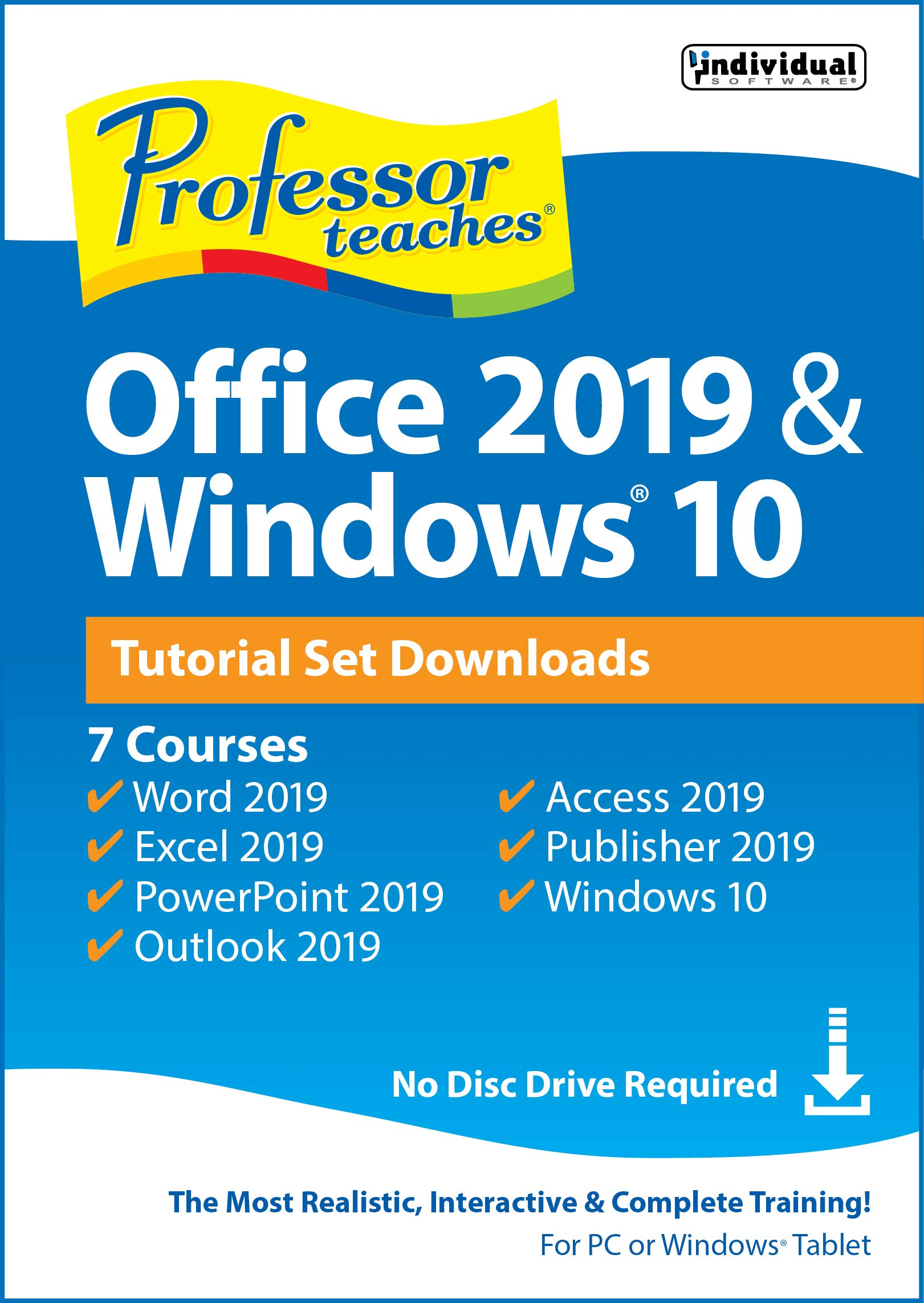 Professor Teaches Office 2019 & Windows Tutorial Set Downloads [PC Online code] by Individual Software