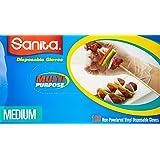 Sanita Disposable Gloves - Size Medium - 100 Pieces