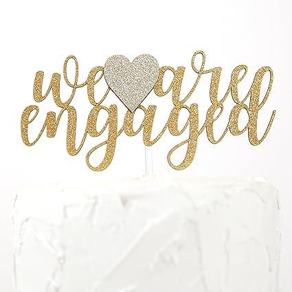 amazon com nanasuko engagement party cake topper we are engaged