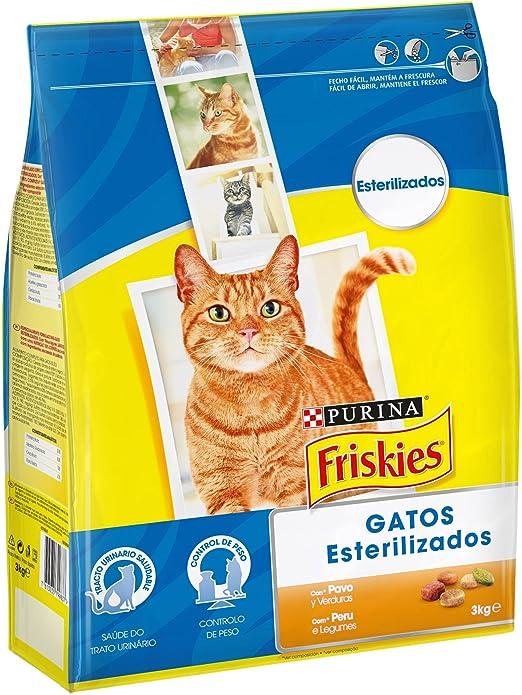 Purina Friskies Esterilizados Pienso para Gato Adulto Pavo y Verduras 4 x 3 Kg: Amazon.es: Productos para mascotas