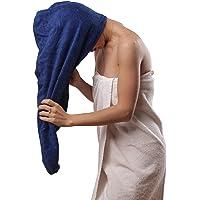 Aspen5 Enorme 400 g/m² toalla de algodón para mujeres | toalla de pelo de secado rápido súper absorbente | turbante para…