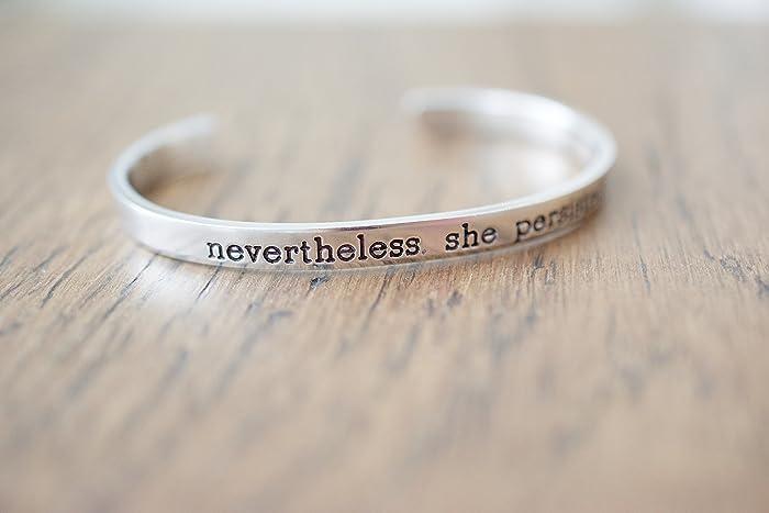 Amazon Com Nevertheless She Persisted Bracelet Handmade