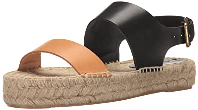 bc0e0a5ff7c Soludos Women s Bi-Color Platform Sandal Flat Nude Black 10 ...