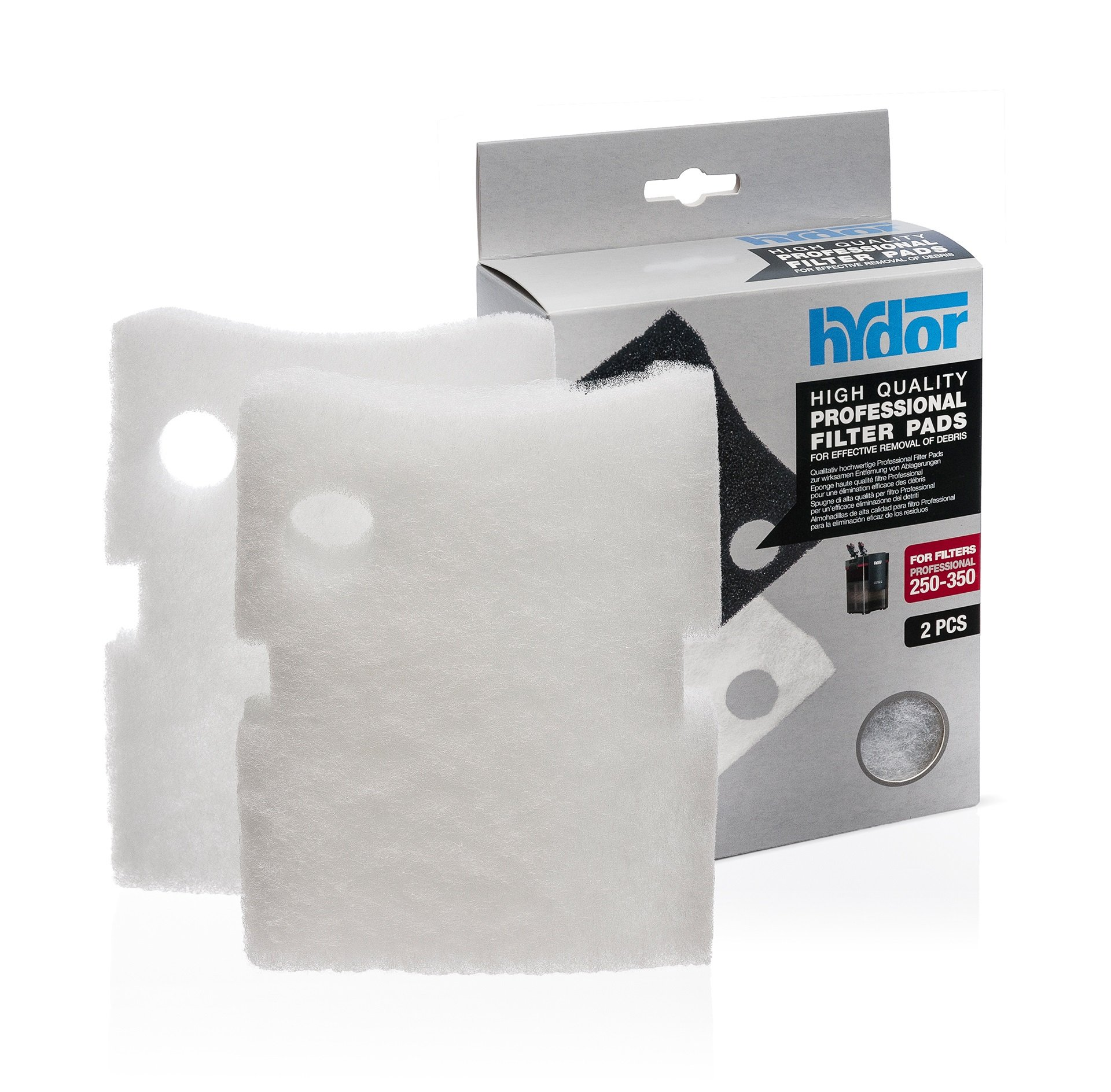 Hydor Professional External Canister Filter Media, 2 pk, Medium, White Pad, Fits 250/350