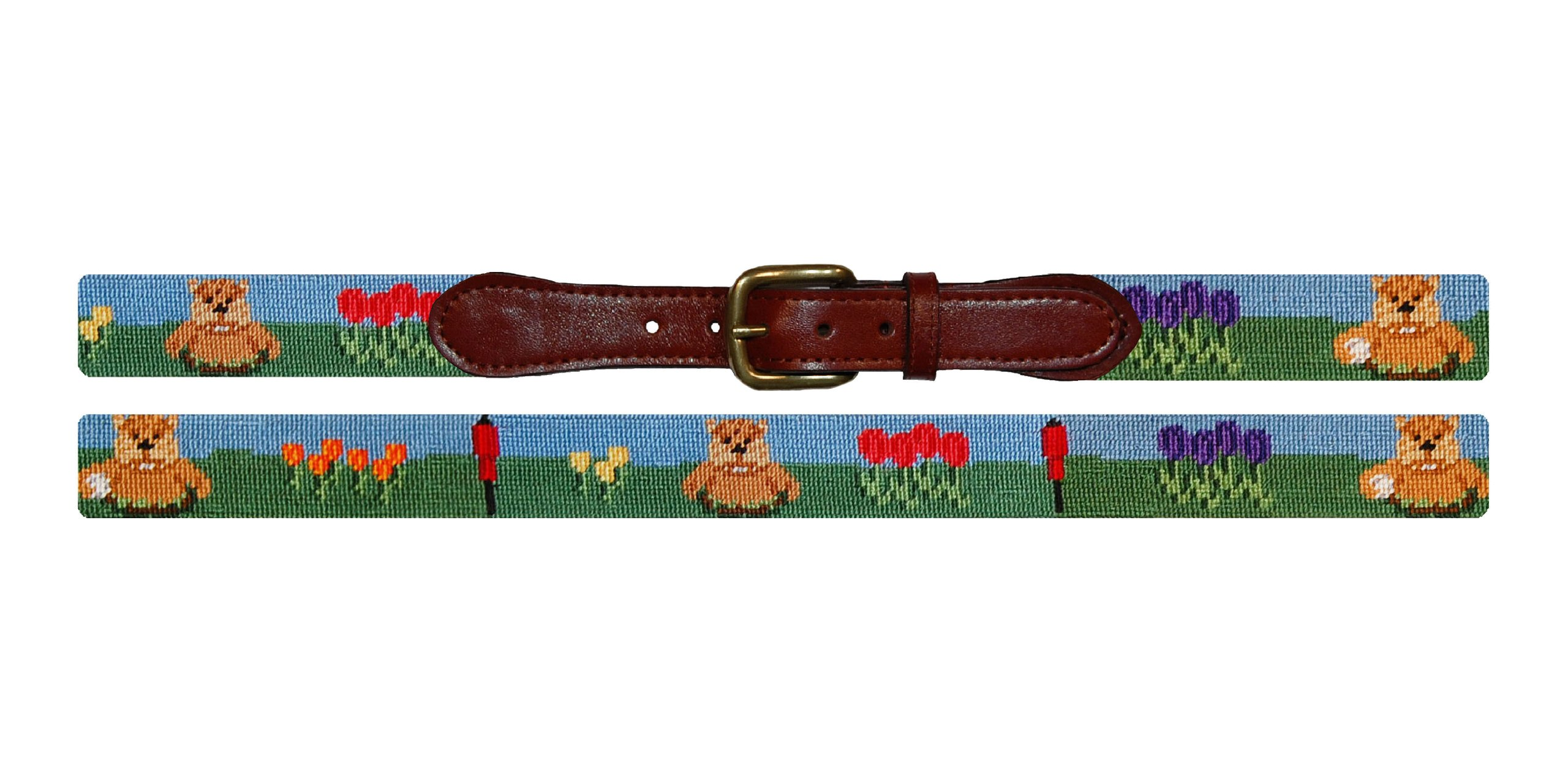 Smathers & Branson Gopher Golf Traditional Needlepoint Belt Size 40 (B-141-40)