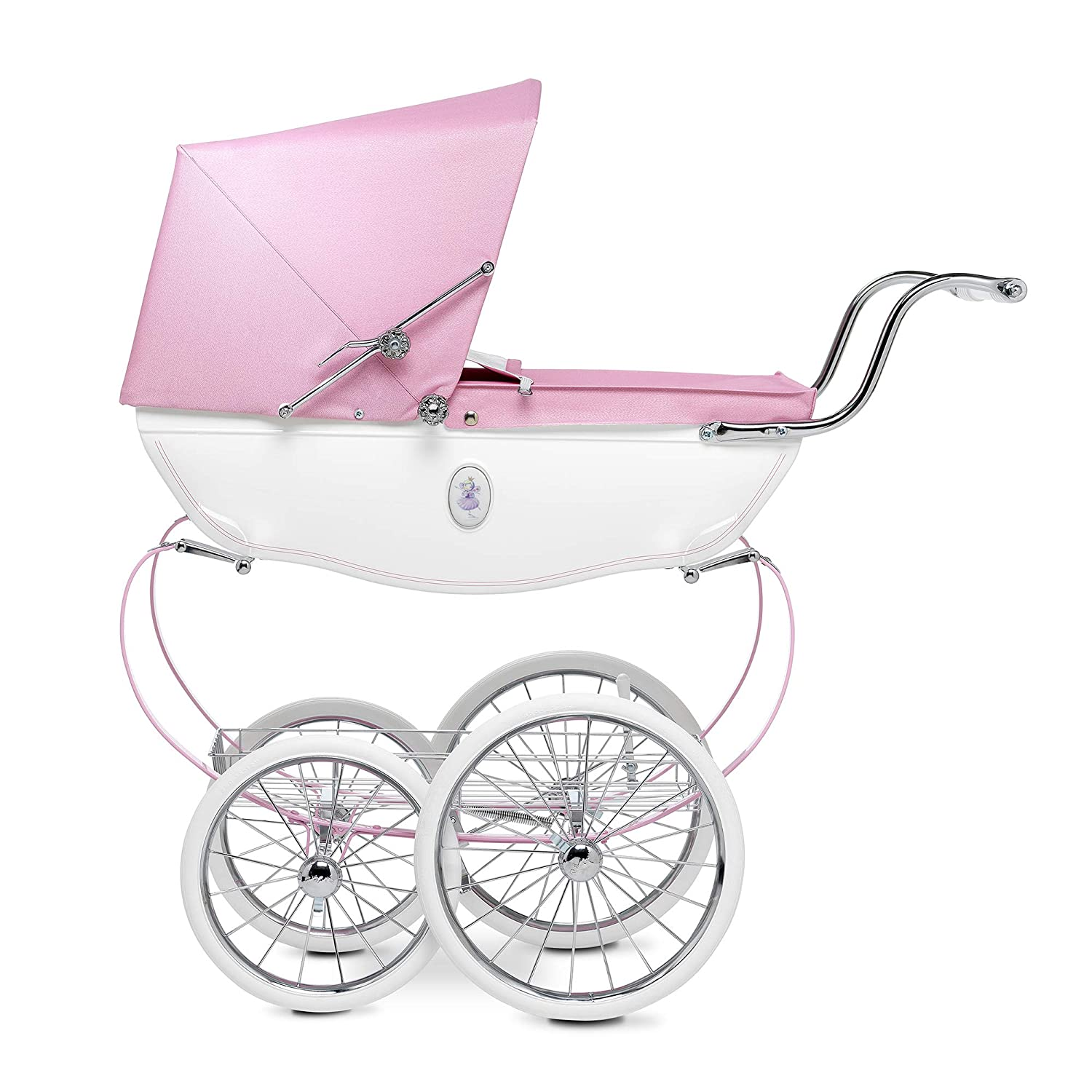 9d46757a643f8 Amazon.com  Silver Cross Doll s Pram - Baby Toy Stroller - Handmade in  England (Princess Pink)  Toys   Games
