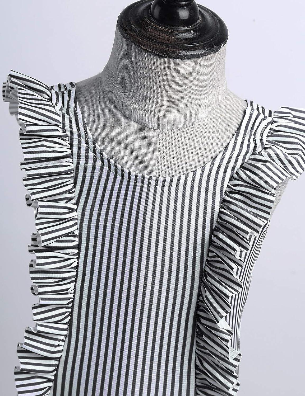 iEFiEL Costume da Bagno Neonate Costumi Interi Bambina Body da Nuoto Costumi Mare Pscina Spiaggia Swimsuit Swimwear Sunsuit Romper a Righe Bikini Tankini 0-24 Mesi