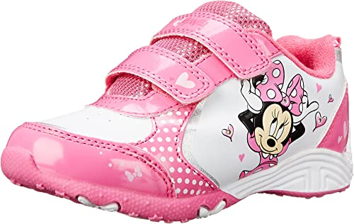 NEW Disney Minnie Mouse Toddler Girl/'s Sneaker 7 8 9 10 11 12 Pink//Black size