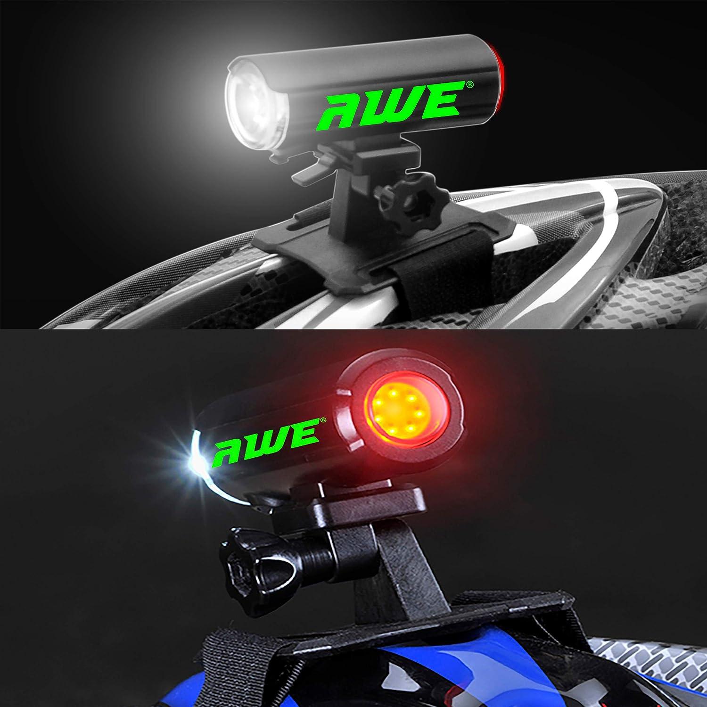 AWE awedual 150 lúmenes 360 ° + TM USB Batería para bicicleta ...