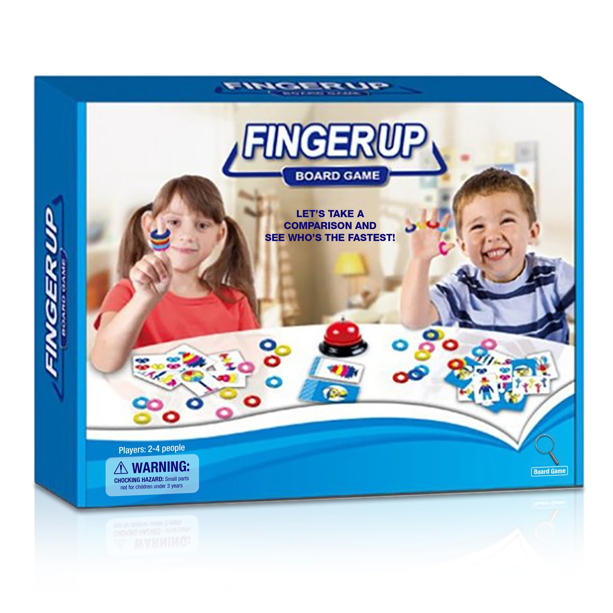 Gamie Finger Up Color Matching Game for Kids by Fun and Interactive Mind Card Game   Great Educational Learning Tool   Color Recognition Game   Cool Party Activity/ Educative Gift for Boys and Girls