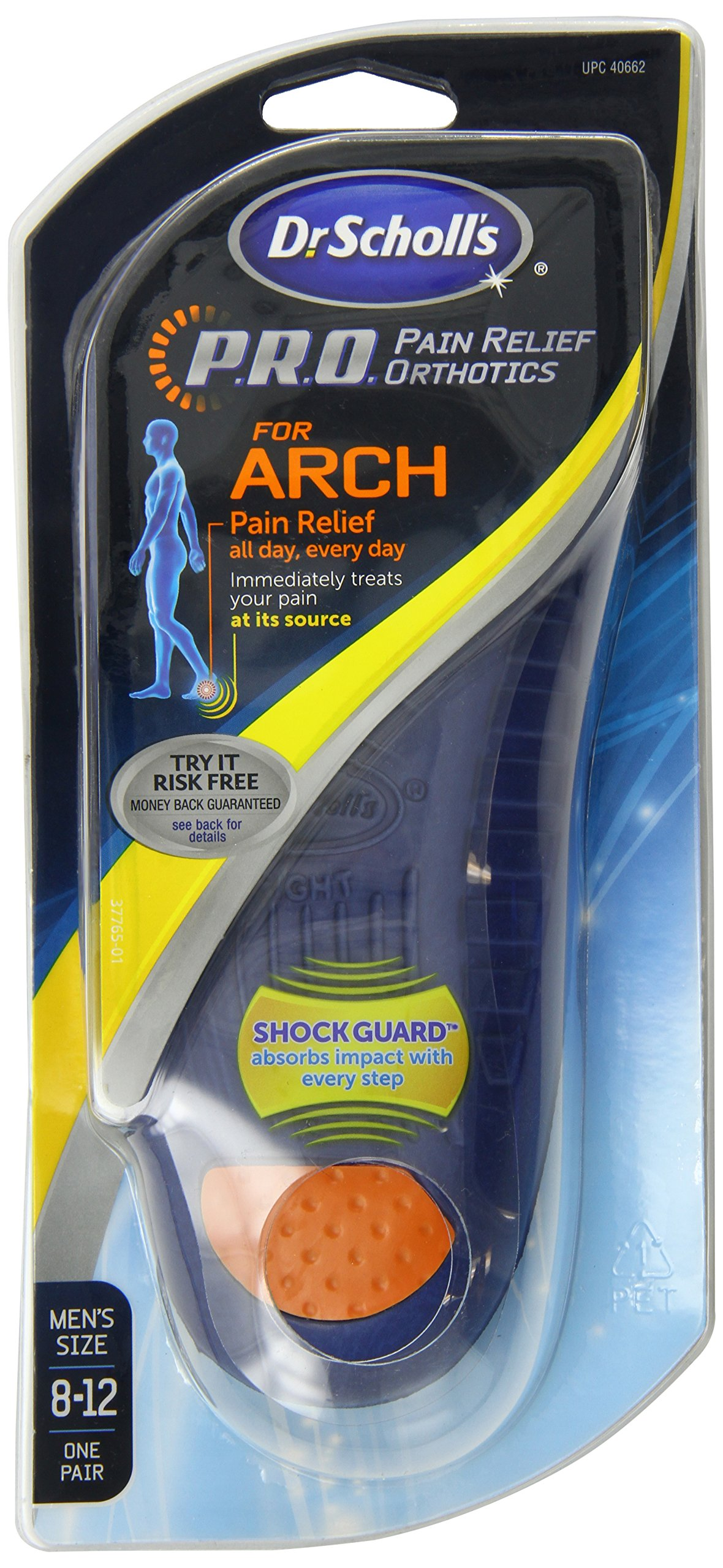 Dr. Scholl's Arch Pain Relief Orthotic Mens, Sizes 8 - 12