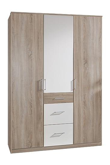 Wimex Kleiderschrank/ Drehtürenschrank Click, 3 Türen, 2 große, 1 ...