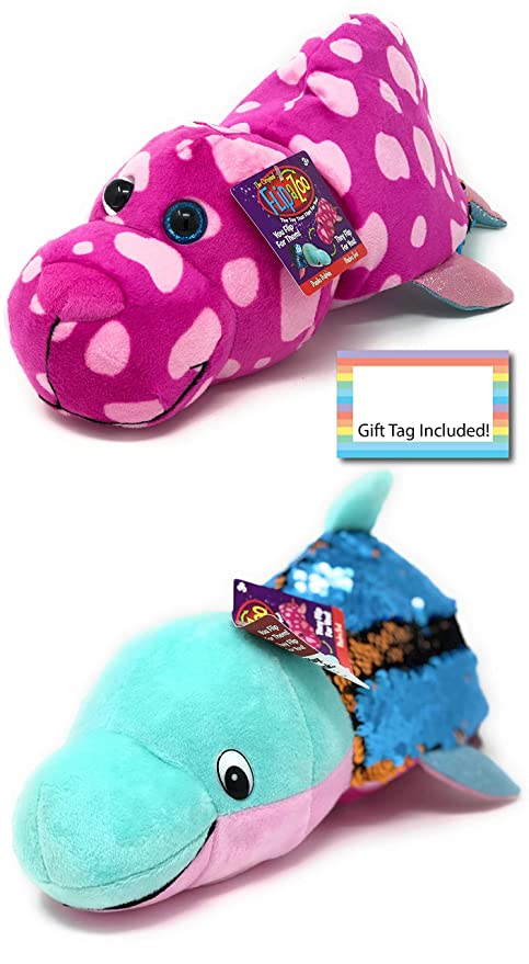 cb7da75ac824 Amazon.com  FlipaZoo Flipquins Plush Toys