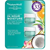 NatureWell AM/PM Dynamic Face and Neck Renewal Cream, 24 Hour Moisture- Clinically Proven Results to Hydrate Skin, Reduce Fine Lines, 1.7oz (2 Pack)