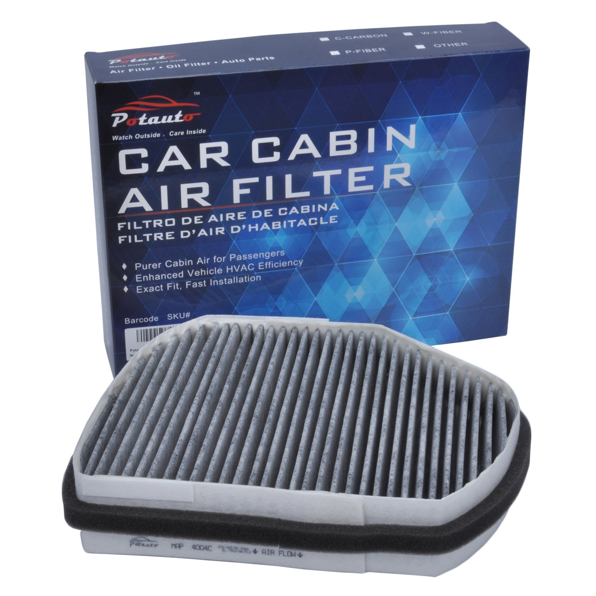 Potauto Map 4004c Heavy Activated Carbon Car Cabin Air Filter Clk320 Fuel Replacement Compatible With Chrysler Crossfire