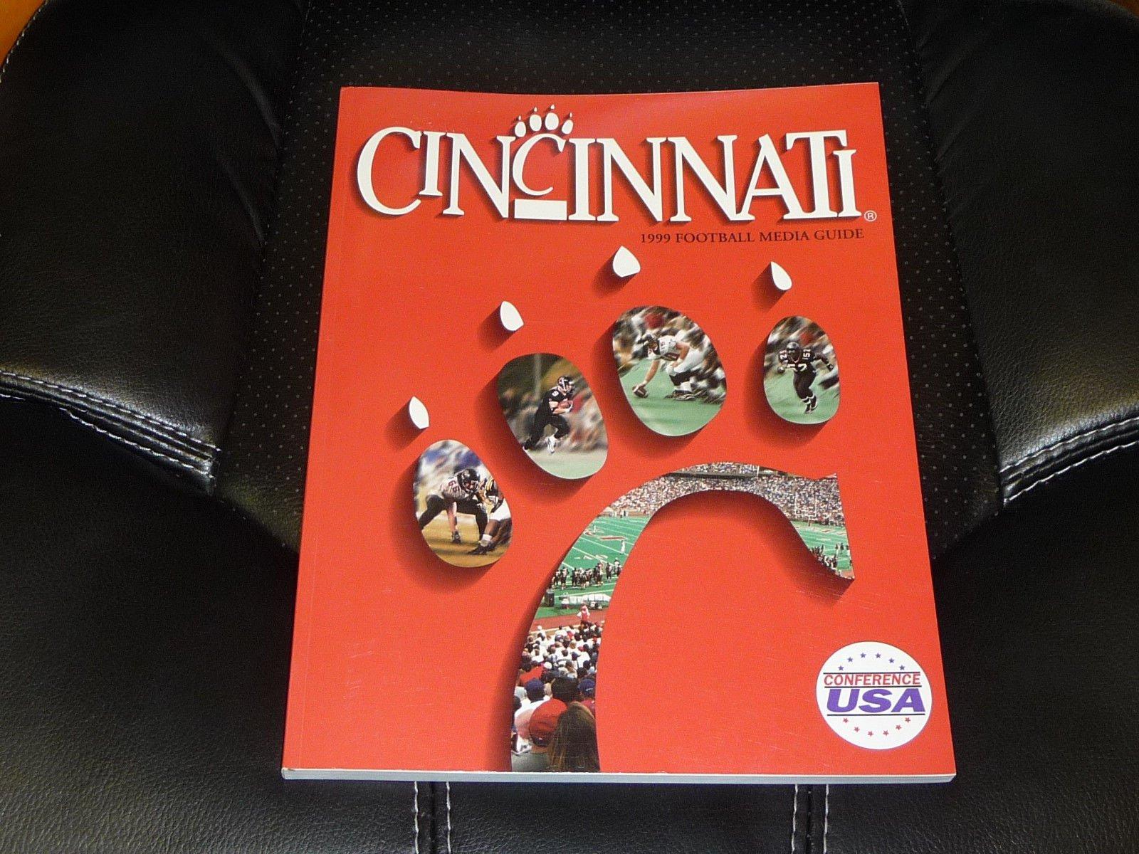 1999 CINCINNATI COLLEGE FOOTBALL MEDIA GUIDE COVER EX MINT BOX 13