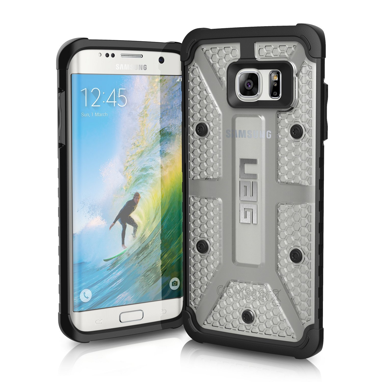 Uag Samsung Galaxy S7 Edge 55 Inch Screen Feather Military Armor Case Flat Spigen Crystal Shell Original Light Composite Ice Drop Tested Phone Cell Phones Accessories