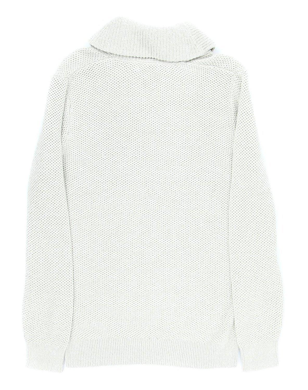 Nautica Men's Textured Shawl Collar Asymmetrical Zipper Sweater [M] [Sand Drift] by Nautica (Image #2)