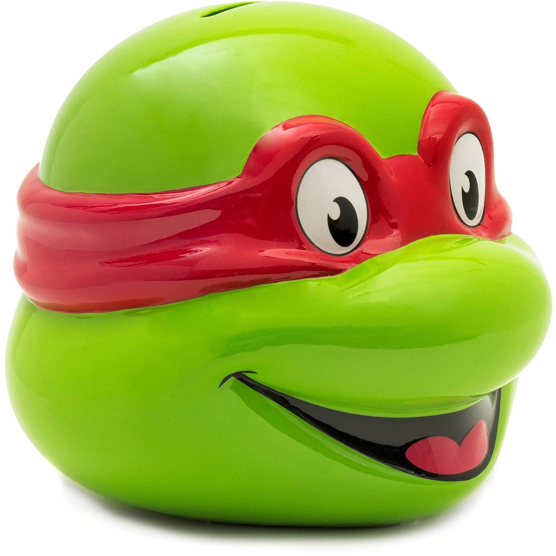 Amazoncom Teenage Mutant Ninja Turtle Ceramic Raphael Head Piggy