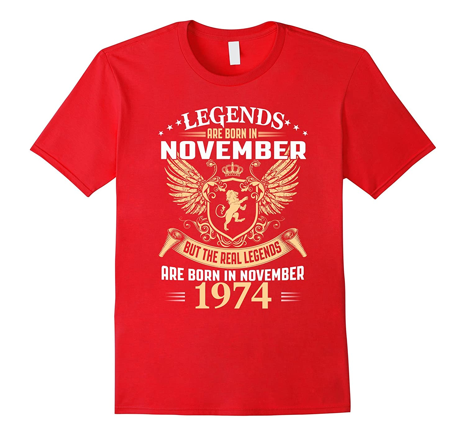 7184e2a3 ... 80 yrs old B-day 80th Birthday Gift-ANZ. Legends Are Born In November  1974 T shirt-ANZ