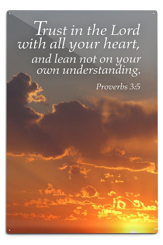 Proverbs 3 : 5 – inspirational 12 x 18 Metal Sign LANT-47113-12x18M 12 x 18 Metal Sign  B06Y1JLJJ6