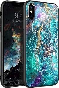 BENTOBEN iPhone Xs Max Case, Glow in The Dark Slim Fit Thin Hybrid Hard PC Soft TPU Bumper Protective Men Women Phone Cover for iPhone Xs Max 6.5 inch, Mandala in Galaxy