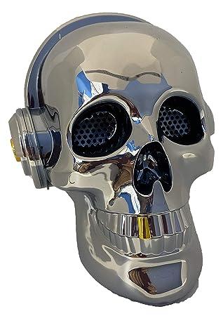 Altavoz Calavera Skull Bluetooth portatil, Tarjeta SD, Pendrive ...