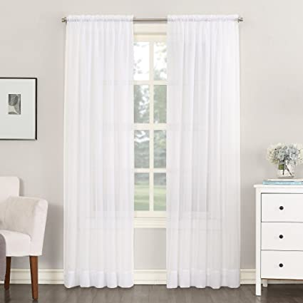 918 Emily Sheer Voile Curtain Panel 59quot X 54quot