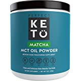 Organic Matcha Green Tea Powder | Ceremonial Grade Japanese Matcha Powder with Medium Chain Triglyceride (MCT) Oil Powder For Ketosis and Energy | Ready to Mix Organic Matcha Latte Drink