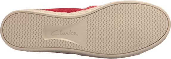 Clarks Women Espadrille Azella Revere Perforated Leather Flats