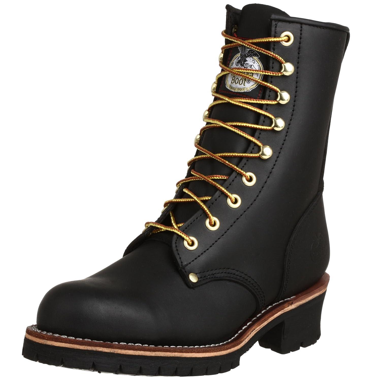 Georgia Boot メンズ B0009PW3B0 10.5 2E US|ブラック ブラック 10.5 2E US