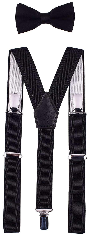 YJDS Kids Suspender Bowtie Sets Classic Y Back BDETFLSDSNFKL3135720