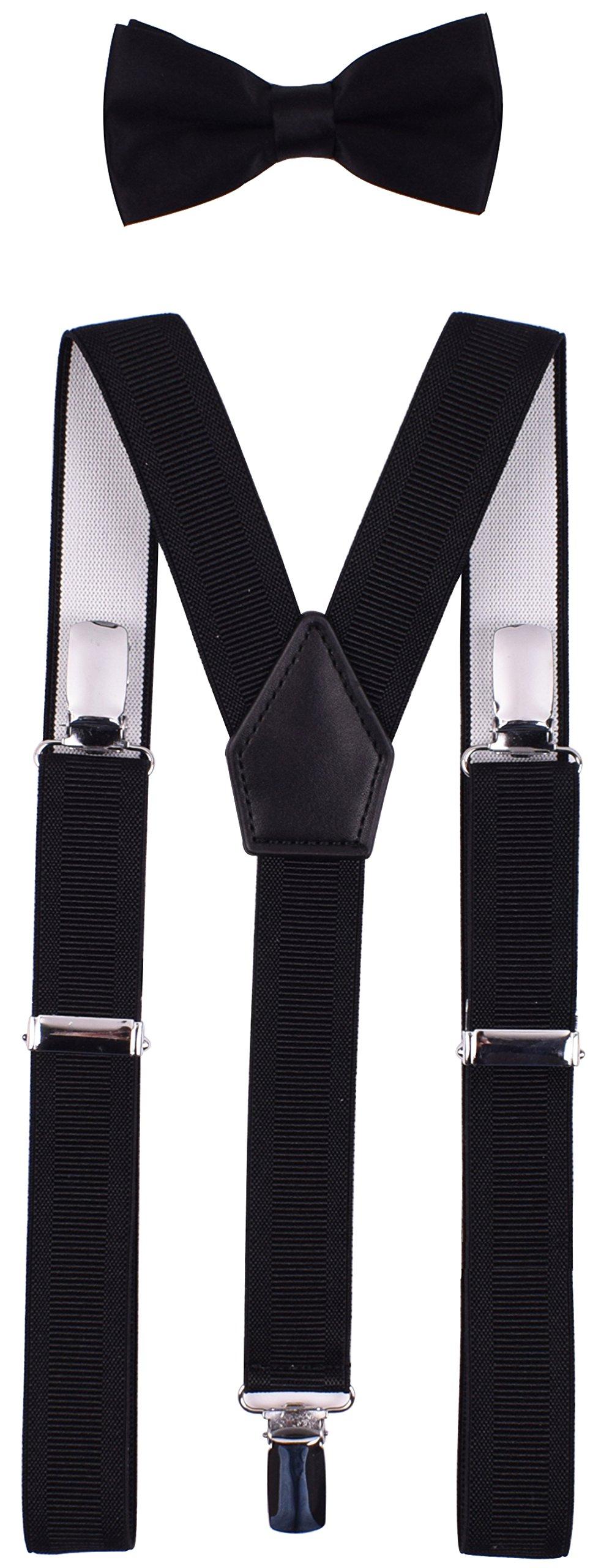 YJDS Kids Suspender Bowtie Sets Classic Y Back