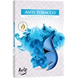 6 St/ück hibuy Duft Teelichter//Duftkerzen Brenndauer 4 Stunden gegen Zigarettenrauch Anti Tabak