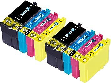 Ink Maxx – Cartucho de tinta refabricado para usar en lugar de Epson 27XL (/ / / pack de 8): Amazon.es: Electrónica