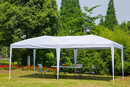 Erommy Outdoor 10×20 Ft Pop up Canopy Party Tent Heavy Duty Gazebos Shelters for Events,White