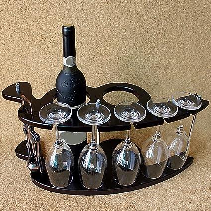 KHSKX Botellero de madera, estante del vino rojo, creativa Europea ...