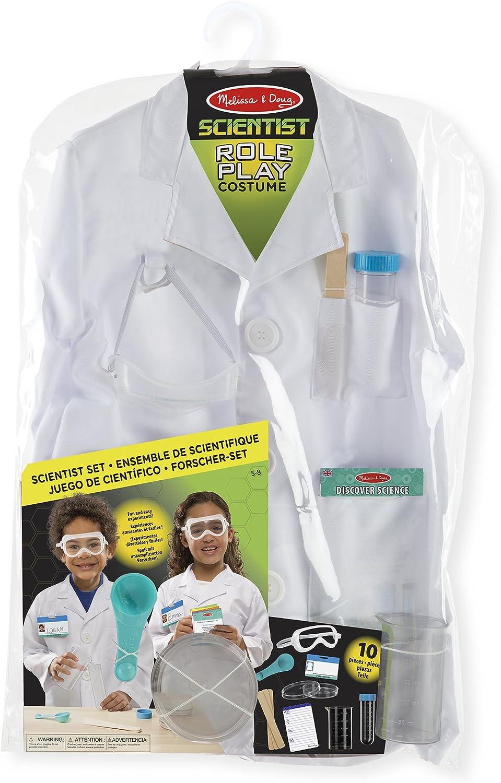 Melissa & Doug- Scientist Disfraz para Niños, Multicolor, Talla ...