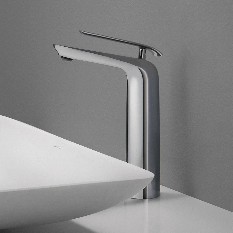 Kraus FVSCH Seda Single Lever Vessel Bathroom Faucet Chrome - Top rated bathroom faucets